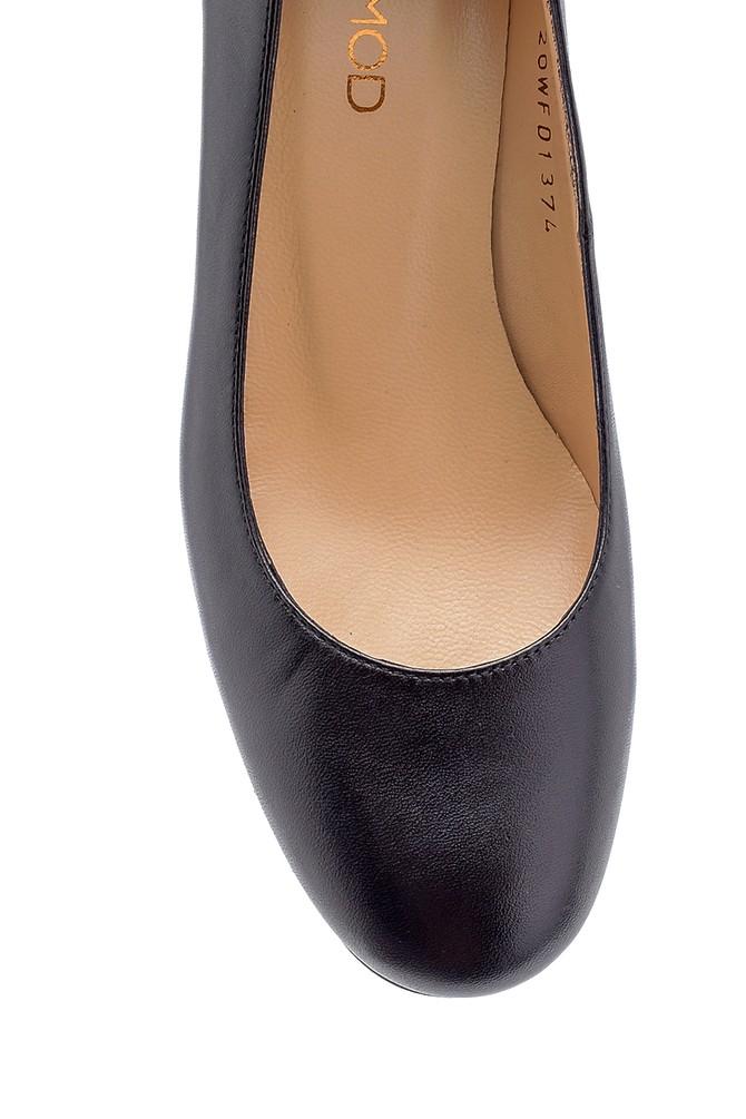 5638208816 Kadın Deri Kalın Topuklu Ayakkabı