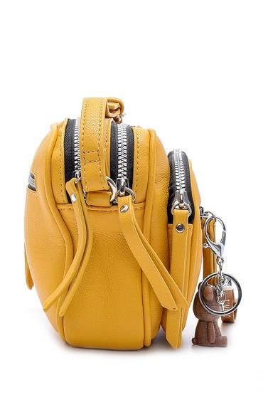 Sarı Kadın Aksesuar Detaylı Çapraz Çanta 5638197434