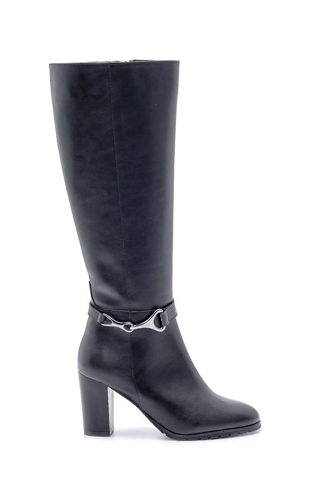 Siyah Kadın Topuklu Çizme 5638178534