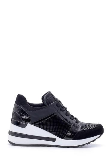 Siyah Kadın Dolgu Topuk Sneaker 5638203227
