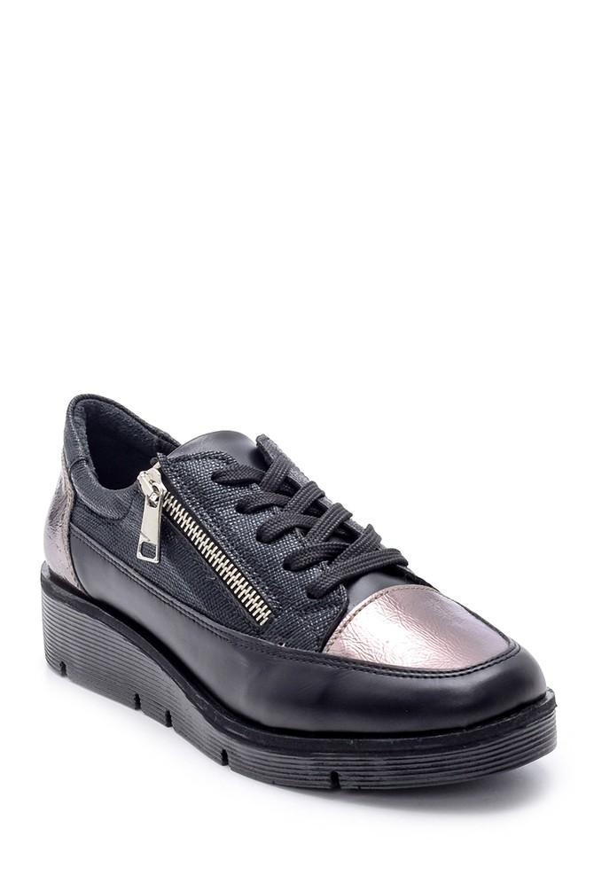 5638203233 Kadın Fermuar Detaylı Sneaker