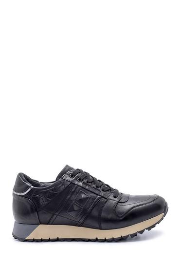 Siyah Erkek Deri Sneaker 5638204782