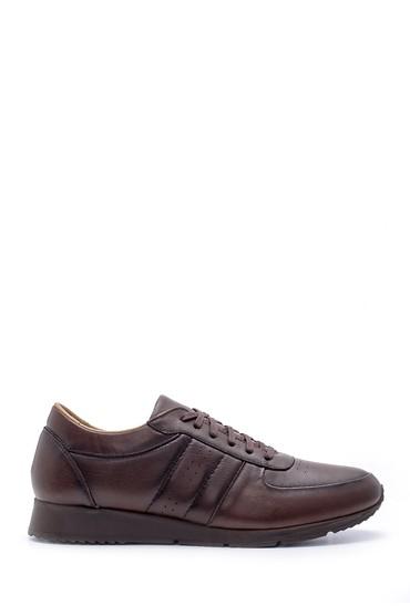 Kahverengi Erkek Deri Sneaker 5638207731