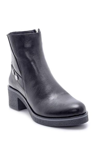 Siyah Kadın Deri Topuklu Bot 5638218163