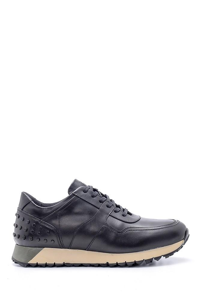 Siyah Erkek Deri Sneaker 5638204691