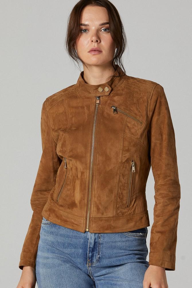 5638173637 Kylie Kadın Süet Deri Ceket