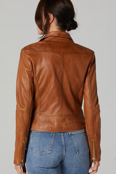Kahverengi Roxana Kadın Deri Ceket 5638180441