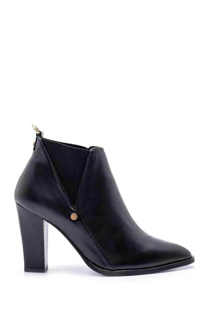 Siyah Kadın Klasik Topuklu Bot 5638178363