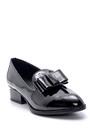 5638199352 Kadın Rugan Topuk Detaylı Ayakkabı