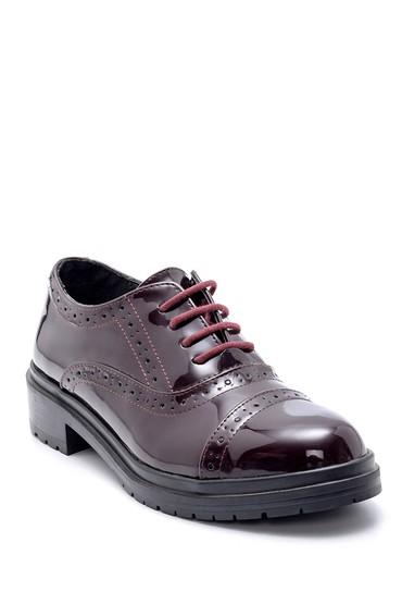 Bordo Kadın Rugan Casual Ayakkabı 5638199448