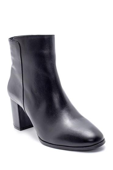 Siyah Kadın Deri Topuklu Bot 5638202829