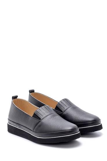 Siyah Kadın Deri Ayakkabı 5638212071