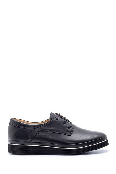 Siyah Kadın Deri Casual Ayakkabı 5638212092