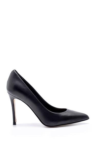 Siyah Kadın Deri Stiletto 5638213737