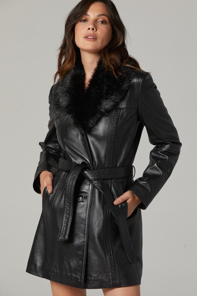 5637376176 New Alexandra Kadın Deri Ceket