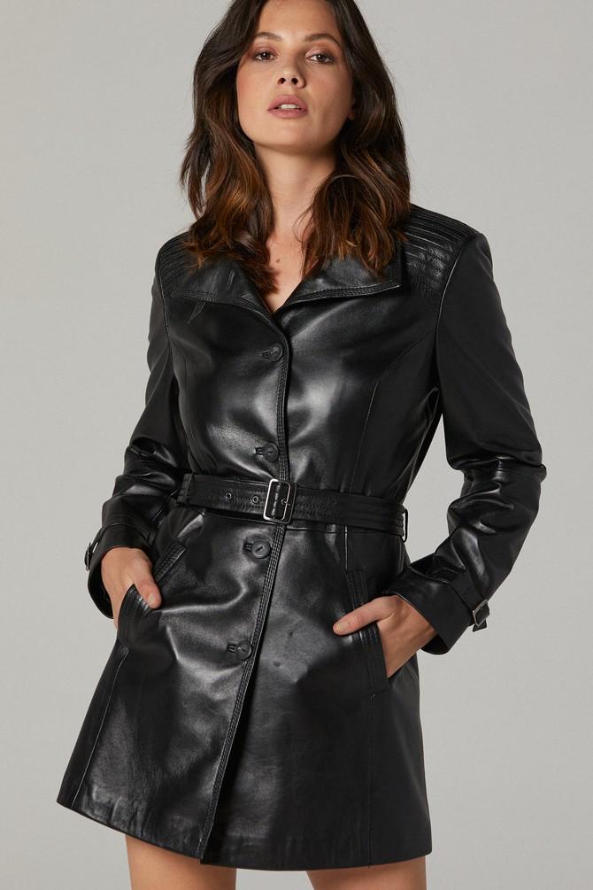 Siyah Cassandra Kadın Deri Ceket 5638106080