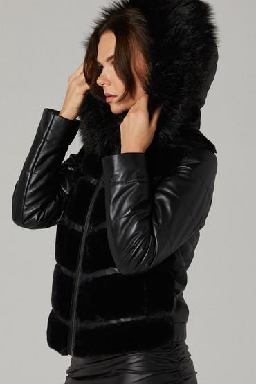 Siyah Loretta Kadın Deri Ceket 5638160516