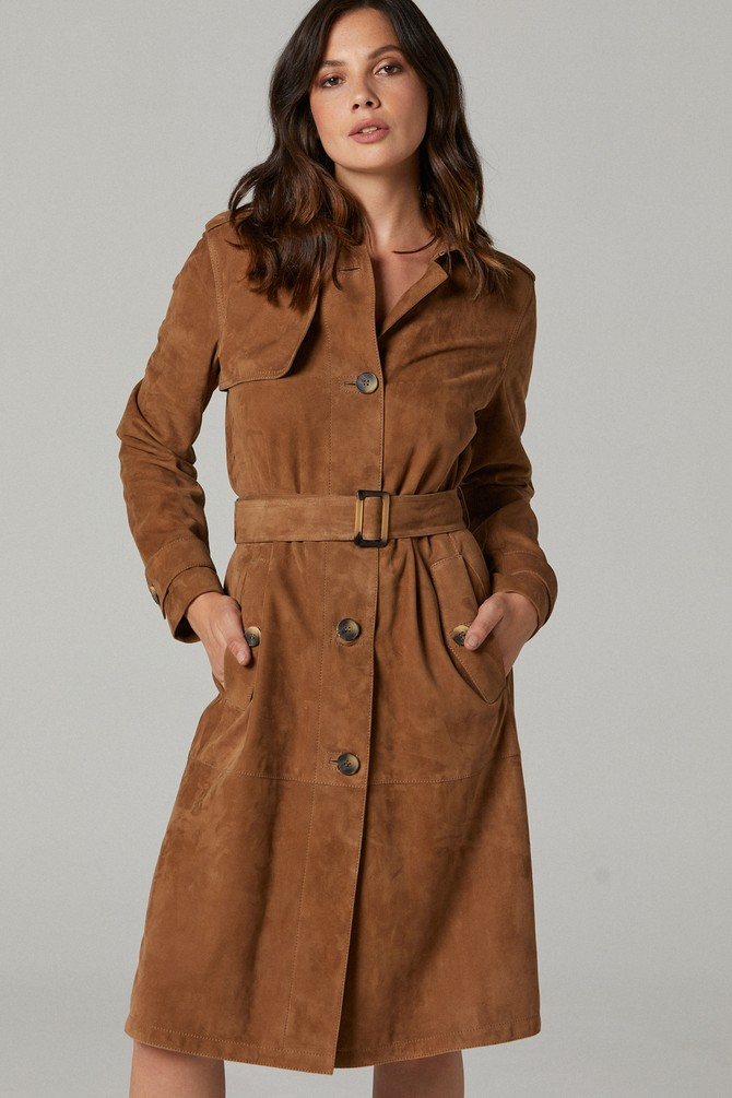 Kahverengi Carmen Kadın Deri Ceket 5638187391
