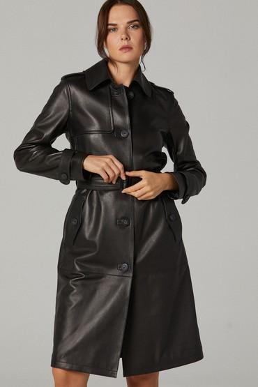 Siyah Carmen Kadın Deri Ceket 5638236893