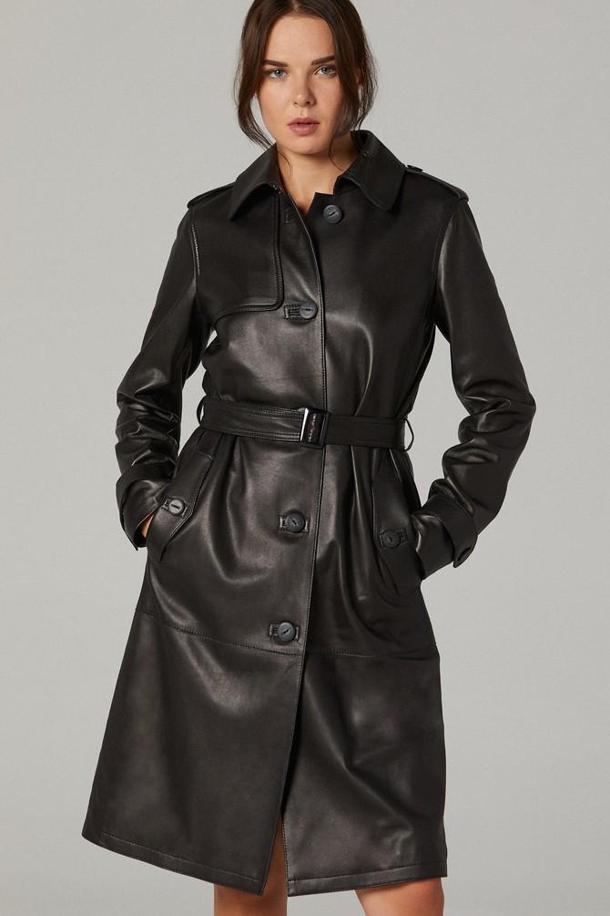 Siyah Carmen Kadın Deri Ceket 5638236892