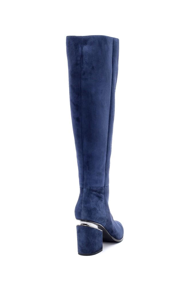 5638198642 Kadın Süet Topuklu Çizme
