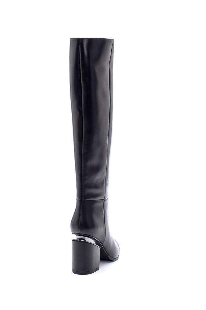 5638198654 Kadın Deri Topuklu Çizme