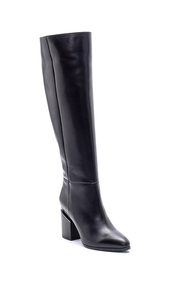 Siyah Kadın Deri Topuklu Çizme 5638198652