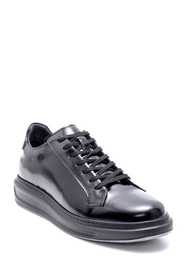 Siyah Erkek Deri Sneaker 5638204516