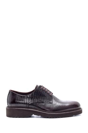 Kahverengi Erkek Deri Baskılı Klasik Ayakkabı 5638209831