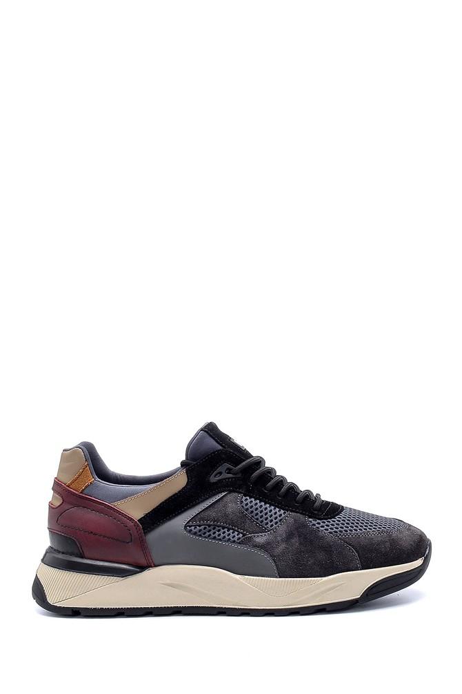 Gri Erkek Deri Sneaker 5638211832