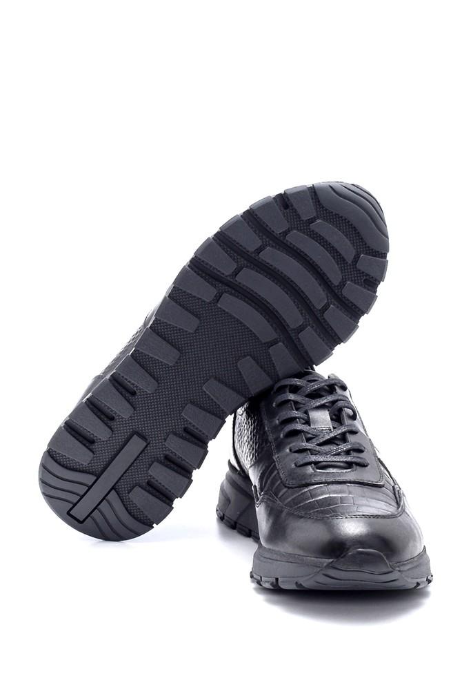 5638211841 Erkek Deri Kroko Desen Sneaker