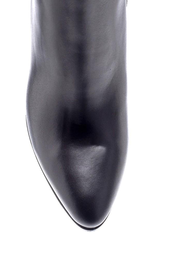 5638206105 Kadın Deri Topuklu Bot