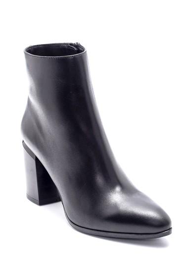 Siyah Kadın Deri Topuklu Bot 5638206105