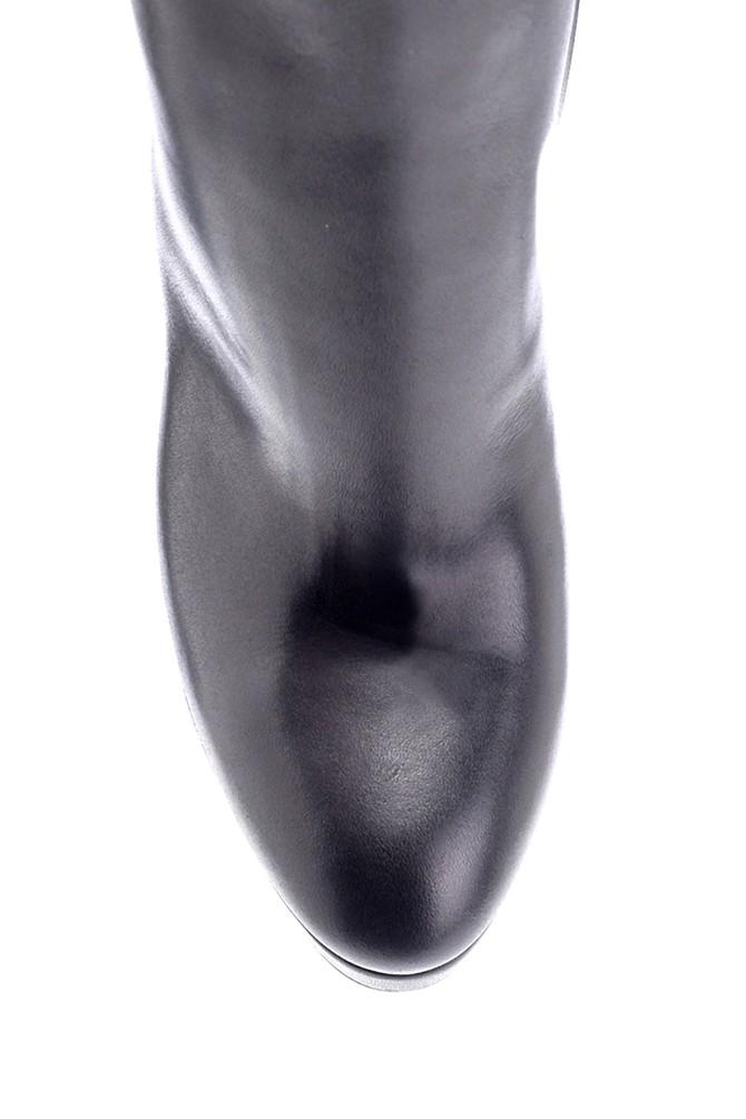 5638206139 Kadın Deri Topuklu Bot