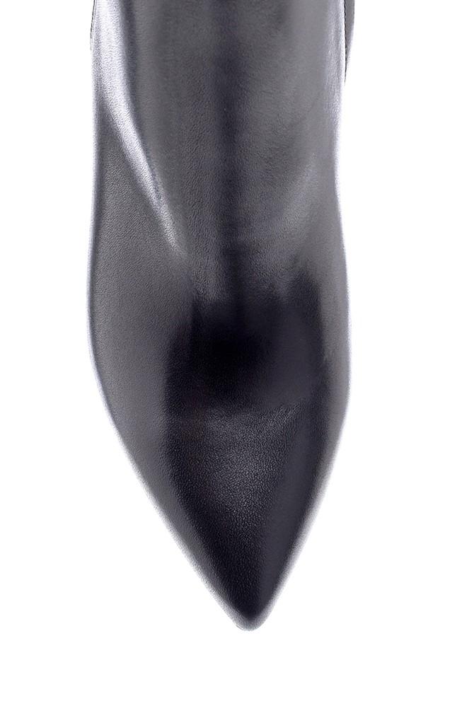 5638206174 Kadın Deri Topuklu Bot