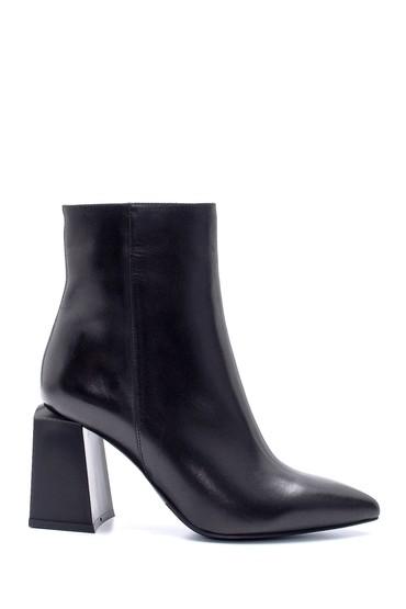 Siyah Kadın Deri Topuklu Bot 5638206174