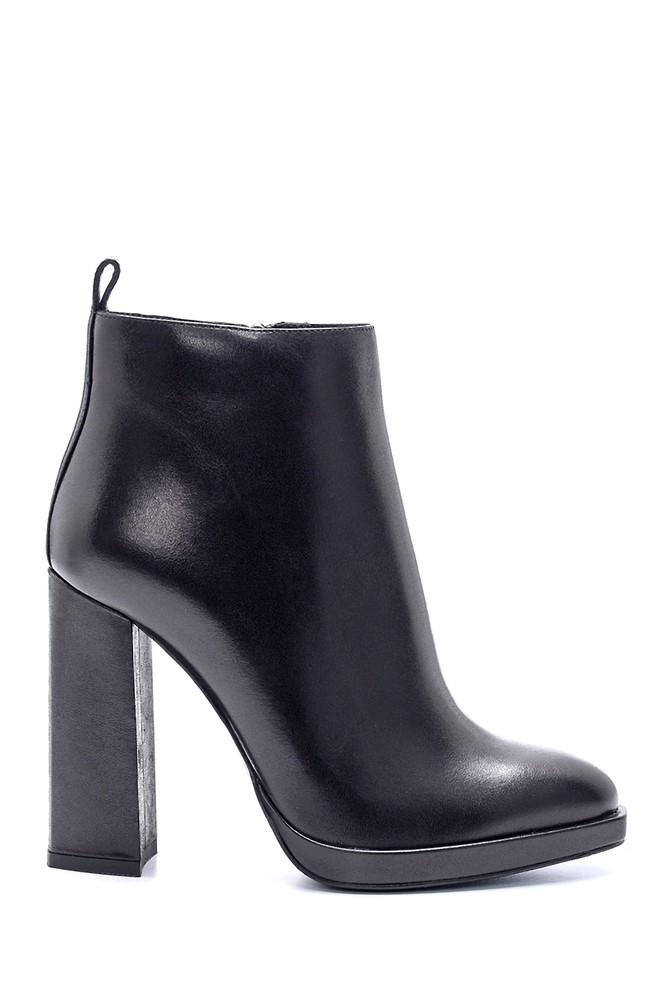 Siyah Kadın Deri Topuklu Bot 5638206184