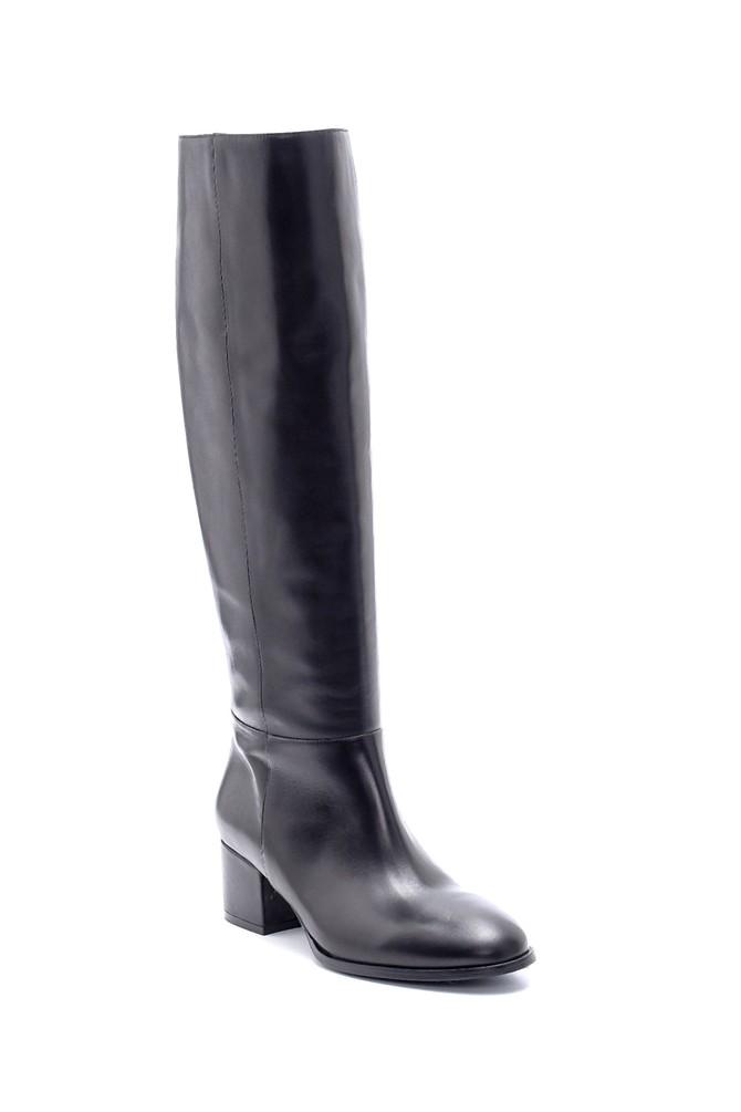 5638206268 Kadın Deri Topuklu Çizme