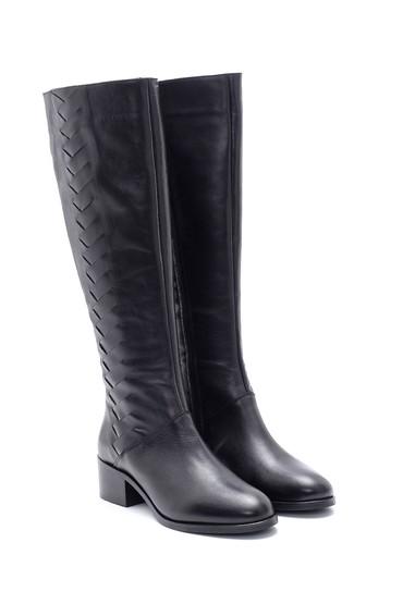 Siyah Kadın Deri Çizme 5638178137