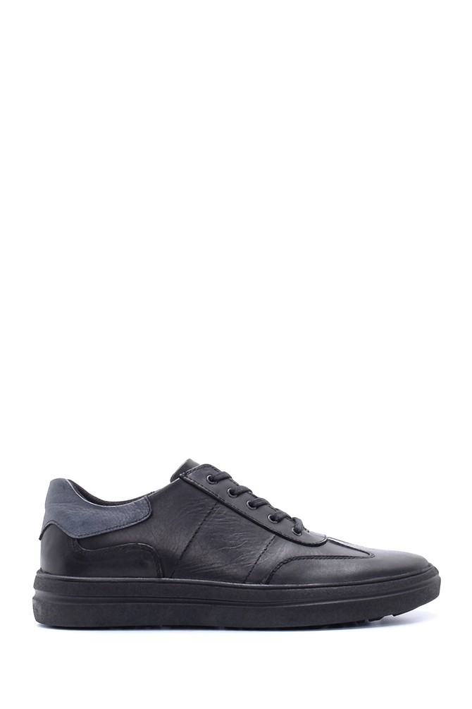 Siyah Erkek Deri Sneaker 5638197291