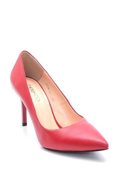 Kırmızı Kadın Deri Stiletto 5638202999