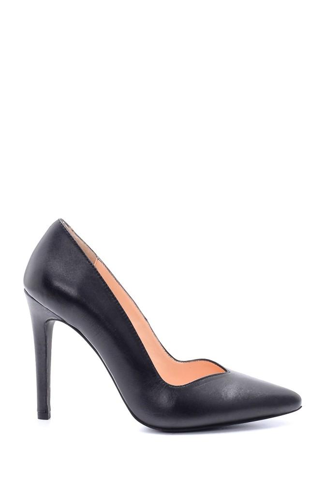 Siyah Kadın Deri Stiletto 5638203056