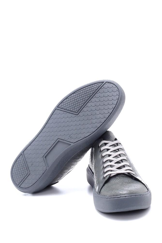 5638203991 Erkek Deri Baskılı Sneaker