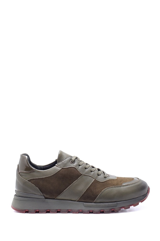 Yeşil Erkek Süet Deri Sneaker 5638204038