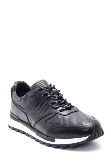 Siyah Erkek Deri Sneaker 5638204526