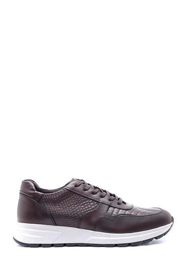 Kahverengi Erkek Deri Kroko Desen Sneaker 5638211839