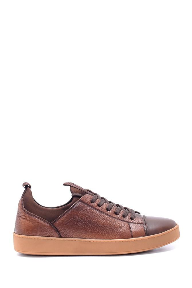 Kahverengi Erkek Deri Sneaker 5638212483