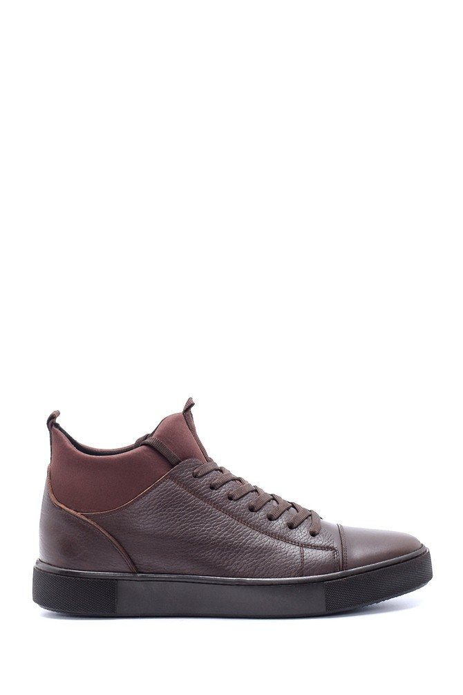 Kahverengi Erkek Deri Sneaker 5638212502