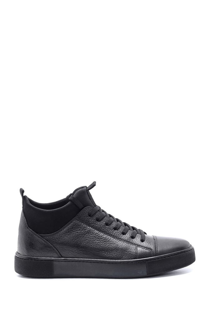 Siyah Erkek Deri Sneaker 5638212504