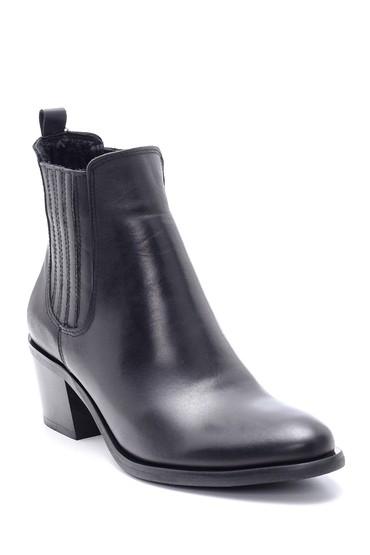 Siyah Kadın Deri Topuklu Bot 5638212935